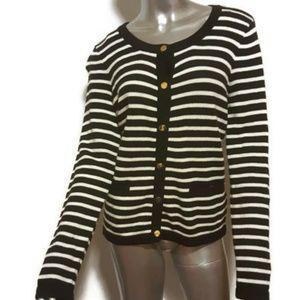 H&M Black Striped Cardigan Sweater *Worn 1x* Sz M